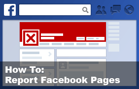 How to report Facebook pages